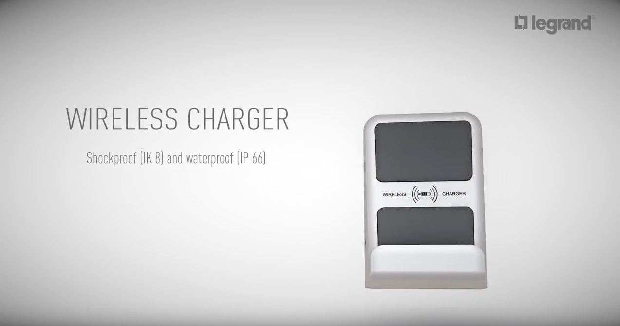 Wireless Charger flush wall-mounted